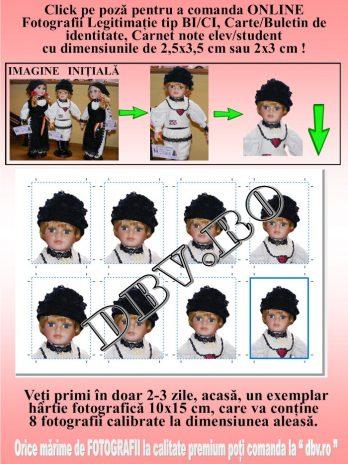 Fotografii Legitimație, BI/CI, carnet note -2,5×3,5 sau 2/3 cm