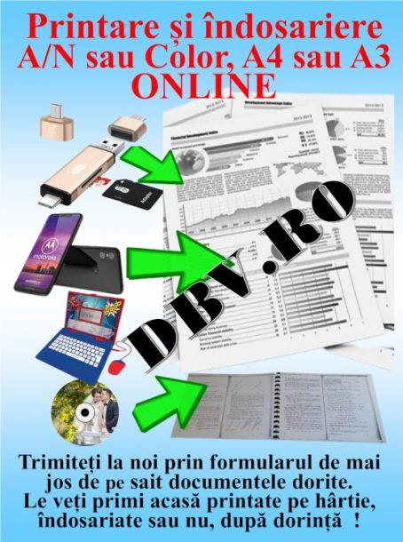 Printări indosariere documente ALB NEGRU COLOR