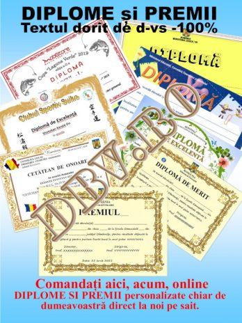 Diplomă școlară premiu cls. 5-8