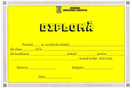 diploma premiu scolar cls 5-8 personalizabila